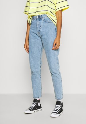 NORA MOM - Jeans baggy - light blue denim