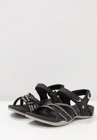 Hi-Tec - SAVANNA II  - Walking sandals - black/cool grey - 2
