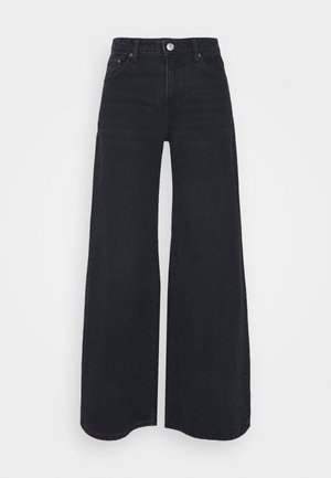 RAY LOW - Flared Jeans - washed black
