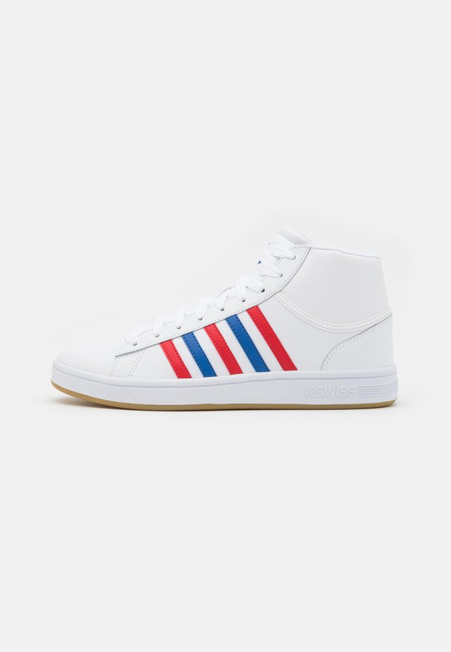 COURT WINSTON MID - Sneakers alte - white/classic blue/red