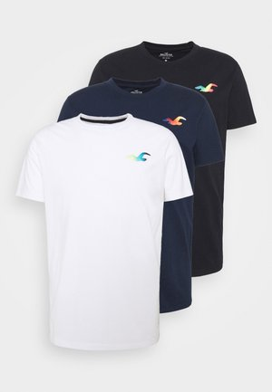 ICONIC 3 PACK - Basic T-shirt - WHITE/NAVY/BLACK