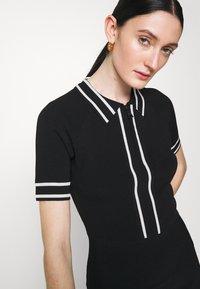 KARL LAGERFELD - FLAIR DRESS - Sukienka dzianinowa - black - 3