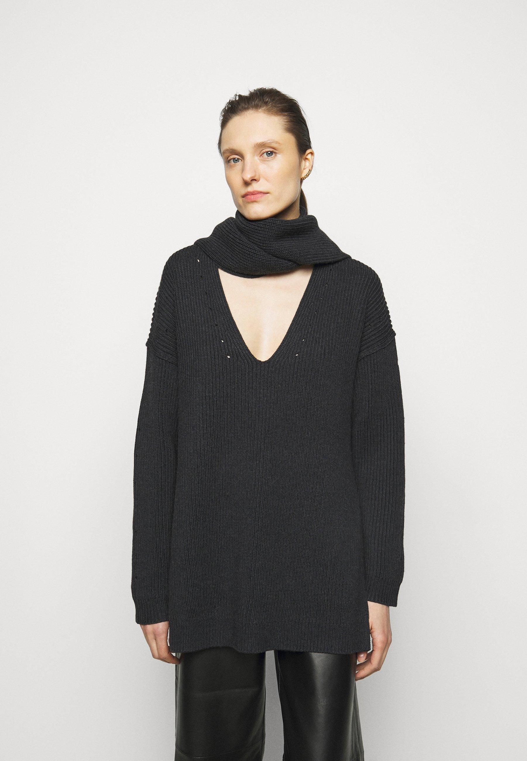 Femme VNECK DETACHABLE SCARF - Pullover