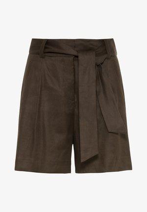 Shorts - dunkel oliv