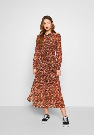 YASNOIDA LONG SHIRT DRESS - Maxikjole - black