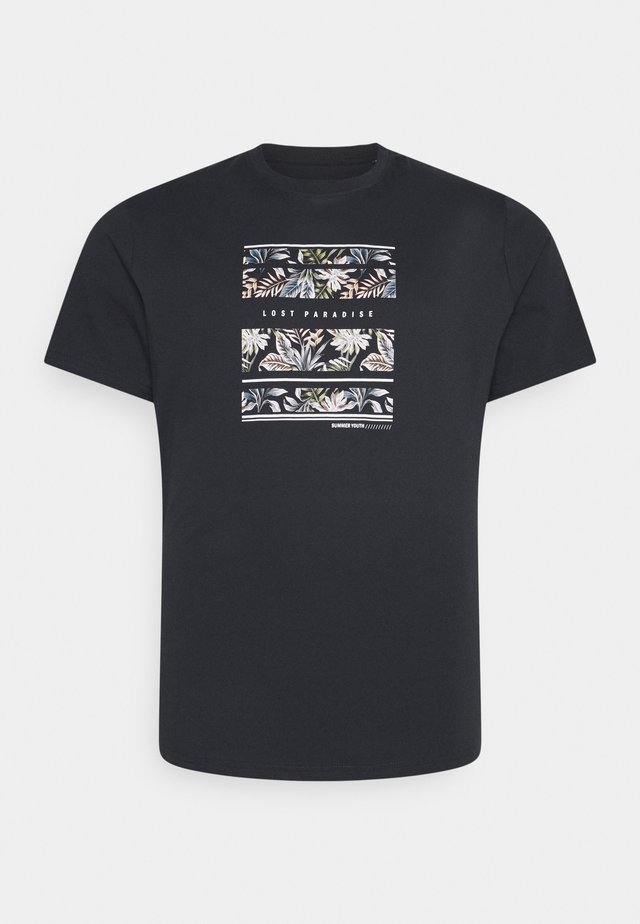 LOST PARADISE PRINT TEE - Print T-shirt - charcoal