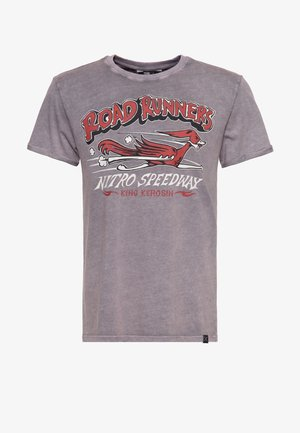 MIT PRINT ROAD RUNNERS - T-shirt print - stahlgrau