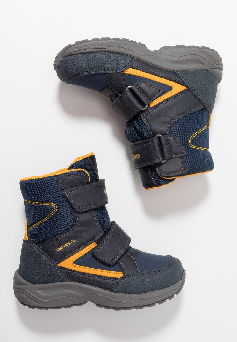 Geox - KURAY BOY ABX - Zimní obuv - navy/yellow