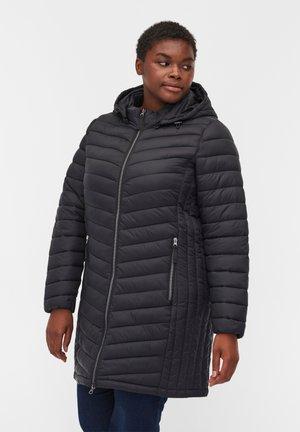 GESTEPPTE  MIT ABNEHMBARER KAPUZE UND TASCHEN - Winter jacket - black