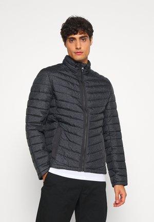 Winterjas - grey melange design