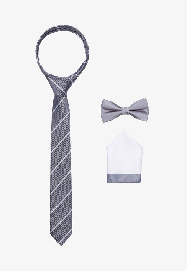 JACNECKTIE GIFT BOX - Mouchoir de poche - glacier gray