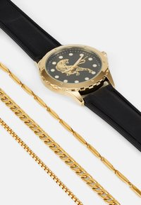 Pier One - WATCH NECKLACES GIFT SET - Klocka - black/gold-coloured - 5