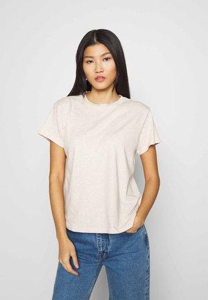 SHORT SLEEVE ROUND NECK - Basic T-shirt - sandy melange