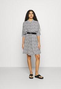 Zign - Shirt dress - white/black - 1