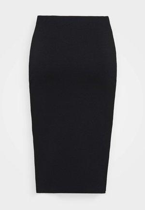 COMPACT SKIRT - Pouzdrová sukně - black