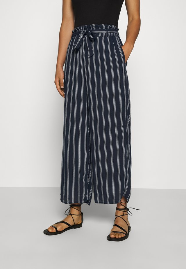 WIDE LEG  - Tygbyxor - navy