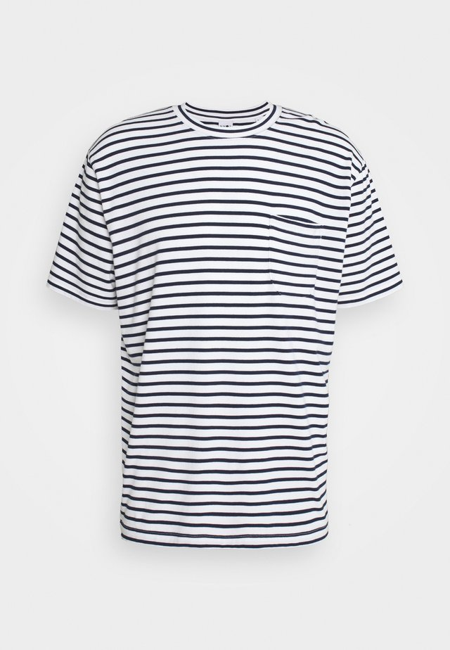 KURT - T-shirt imprimé - navy stripe