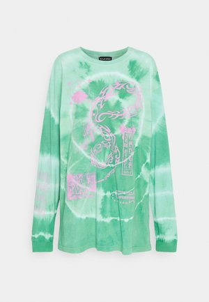 TRIBAL DRAGON TIE DYE TEE - Long sleeved top - green