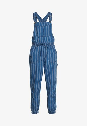 OVERALL SCARY STRIPE - Dungarees - blue