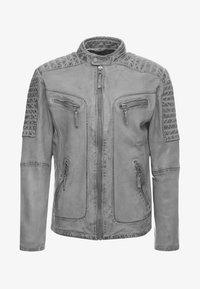 Freaky Nation - BEST BUDDY - Leather jacket - ash - 4