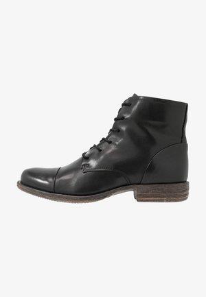 LEATHER BOOTIES - Kotníková obuv - black