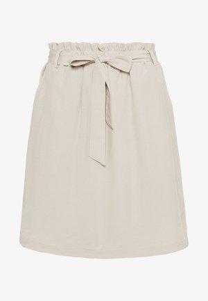 SKIRT - Mini skirt - cashew