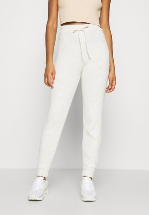 LOUNGEWEAR JOGGER - Tracksuit bottoms - oatmeal