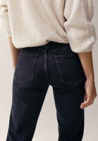 Massimo Dutti - MIT HALBHOHEM BUND - Slim fit jeans - dark grey - 4
