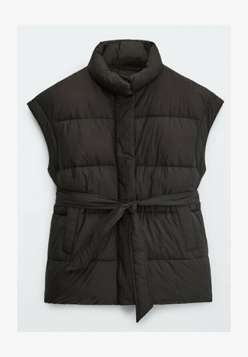 STEP - Waistcoat - black