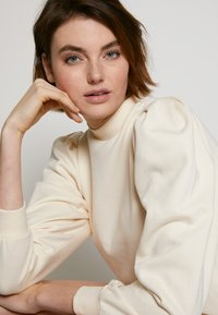 TOM TAILOR DENIM - PUFF SLEEVE DRESS - Day dress - soft creme beige - 5