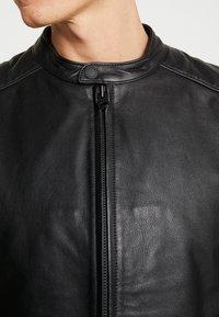 Chevignon - RIDE - Leather jacket - noir - 6