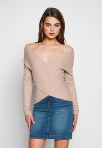 Nly by Nelly - CRISS CROSS SHOULDER - Long sleeved top - mauve - 0