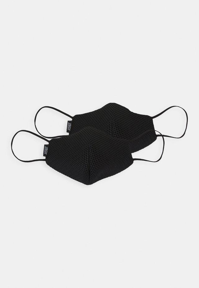 COMMUNITY MASK 2 PACK UNISEX - Látková maska - black