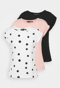ROLL SLEEVE TEE 3 PACK - T-shirts - peach