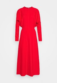 DOLMAN MIDI DRESS - Day dress - tomato red