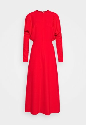 DOLMAN MIDI DRESS - Sukienka letnia - tomato red