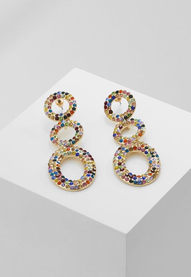 Earrings - gold-coloured/multi color