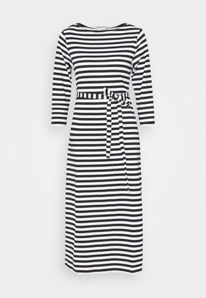 ILMA DRESS - Jersey dress - black/white