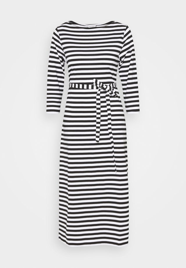 ILMA DRESS - Trikoomekko - black/white