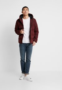 Scotch & Soda - CLASSIC HOODED PRIMALOFT JACKET - Vinterjacka - bordeaux - 1