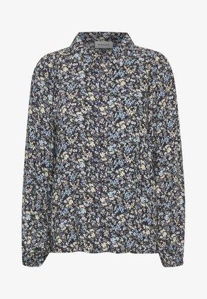 Button-down blouse - total eclipse flora print