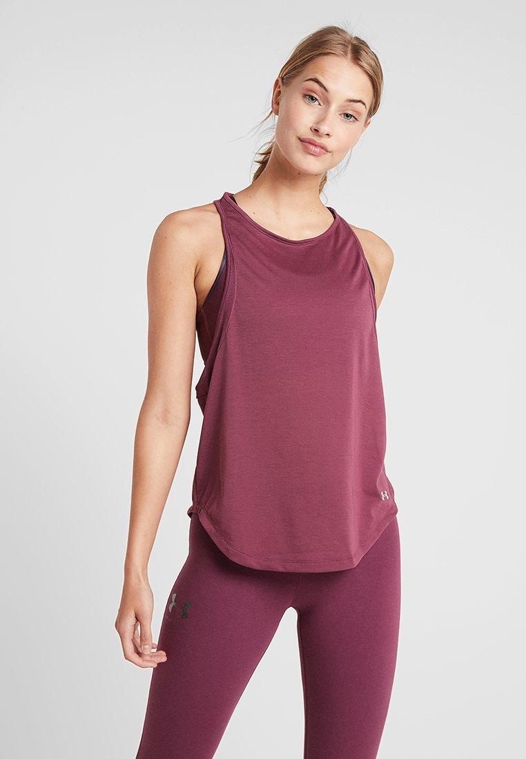 Under Armour - WHISPERLIGHT TANK - T-shirt de sport - level purple/metallic silver