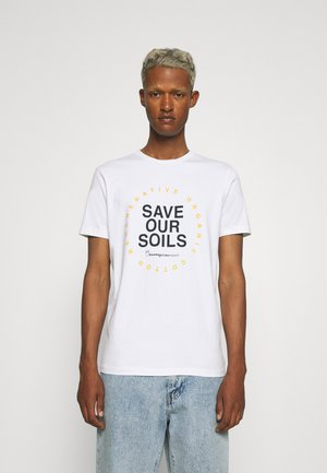 ALDER SAVE OUR SOIL TEE - T-shirt con stampa - bright white