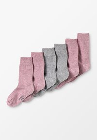 camano - SOFT 6 PACK - Calcetines - chalk pink melange - 0