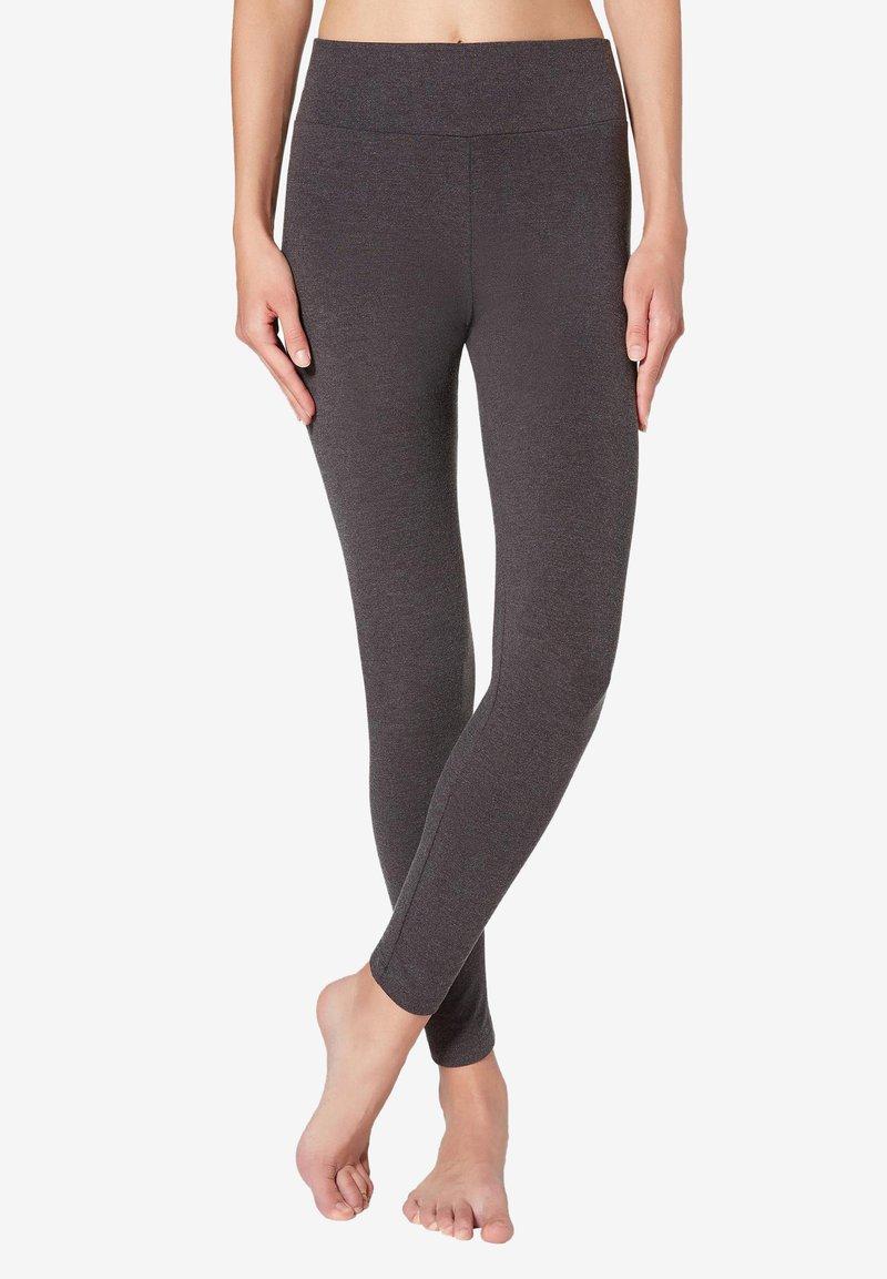 Calzedonia - Leggings - Stockings - mottled dark grey