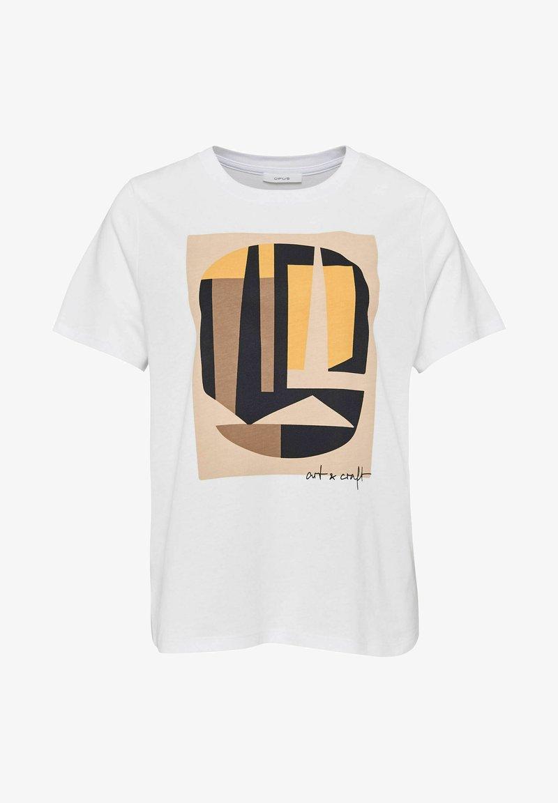 Opus - SAFEMI ART - Print T-shirt - orange