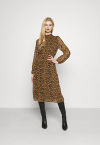 ONLY - ONLSTAR SMOCK MIDI DRESS - Day dress - black/fall ditsy - 0
