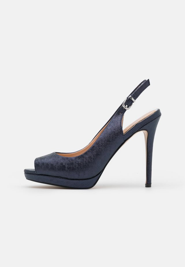 DALLAS - Peeptoe heels - dark navy