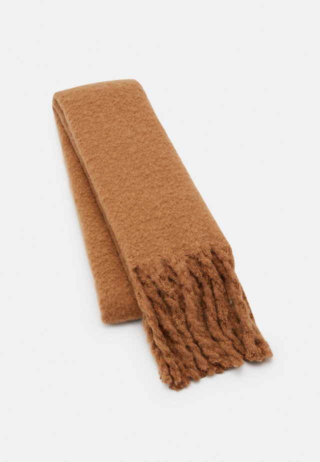 BIG FRINGE SCARF - Sjaal - light brown