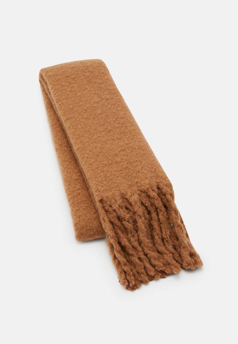 Lindex - BIG FRINGE SCARF - Scarf - light brown